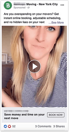 Moving Company Facebook Video Ad Screenshot 1