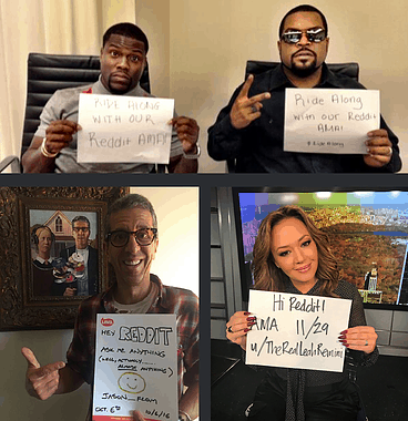 Example of Reddit Celebrity AMAs