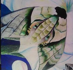 Green hawk moth