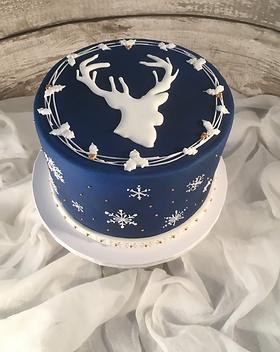 Stag Christmas Cake