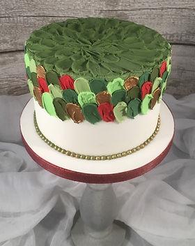 Modern Christmas Cake