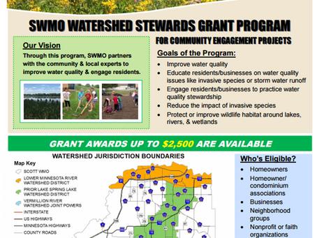 Scott WMO Announces 2017 Mini Grants Water Stewards Program