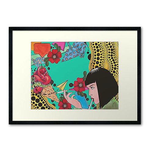 """Mia Kusama"" Print by @brylando"