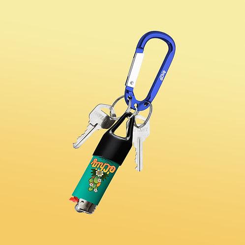 "O'Chiq ""Lighter Clip"" D Ring Keychain"