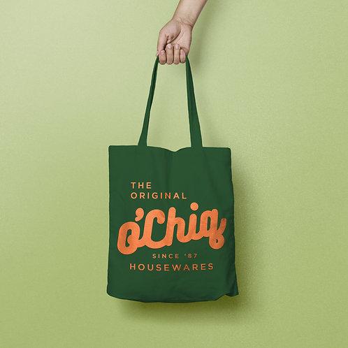 """O'Chiq """"Classic Logo"""" Canvas Tote"""