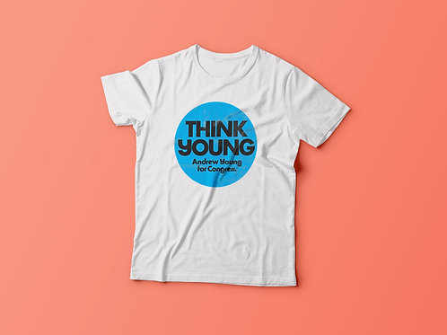 "Saint Lazare ""Think Young"" Vintage Vault Tee"