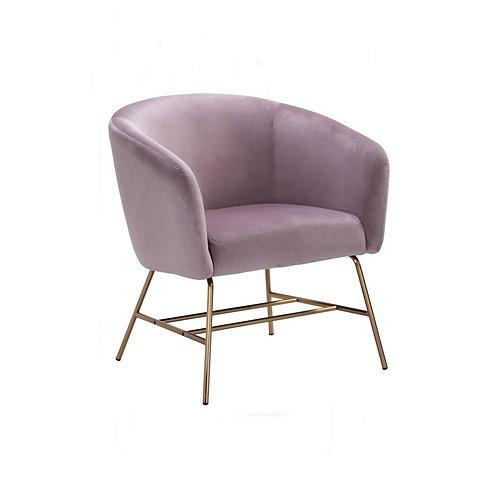 Galen Lounge Chair - Rosa Velvet