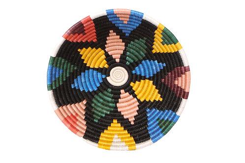 """14"""" Extra Large Black + Neon Jua Round Basket"""