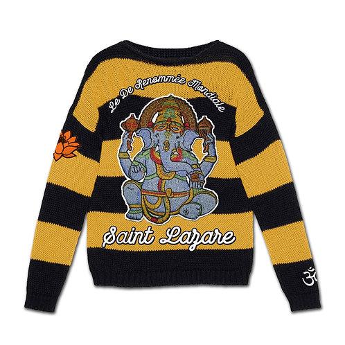 "Saint Lazare ""Bad Religion"" Knit Sweater"