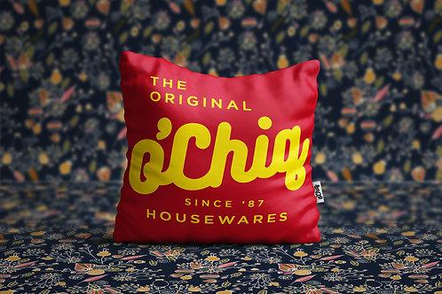 "O'Chiq ""Classic Logo"" Throw Pillow"