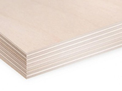 Birch plywood 1525x1525 3mm BB/BB Russia FSC interior 5x5 5ft. 152.5