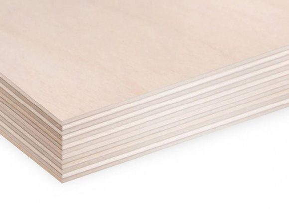 Birch plywood 1525x1525 9mm CP/C Russia FSC interior 5x5 5ft. 152.5