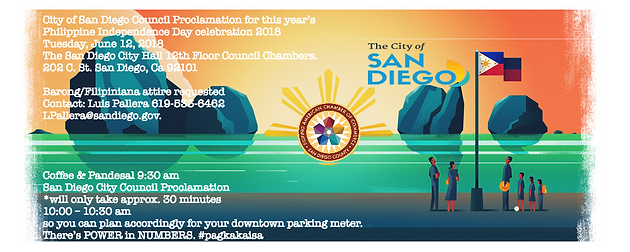 City of San Diego Council Proclamation for this year's Philippine