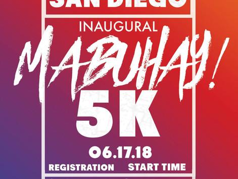 """FilAmRun Inaugural """"Mabuhay 5K"""" with Apl.de.ap."""