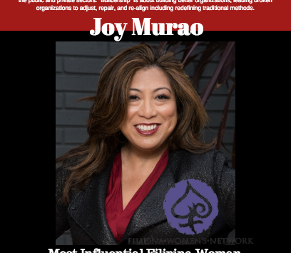 Filipina Women's Network (FWN) Awards FilAmChamber San Diego Member, Ms. Joy Murao, Most Influential
