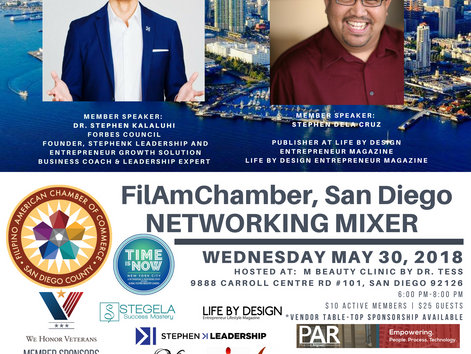 Small Business Month May FilAmChamber-SD Networking Mixer