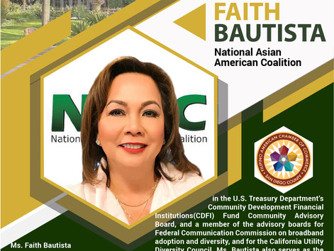 INSIGHT IN THE RANCH - San Diego Filipino-American business leader, Faith Bautista of NAAC to share