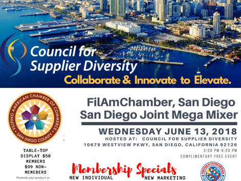 San Diego Joint Mixer Vendor & Membership Opportunities