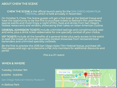 Pacific Arts Movement 5th Annual Chew The Scene | Expected To Be SOLD OUT!
