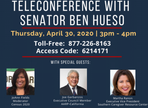 Teletown Hall Meeting and Questions for Sen. Ben Hueso