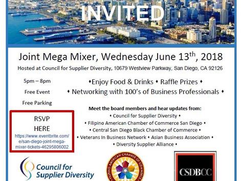 San Diego Joint Mega Mixer Tonight