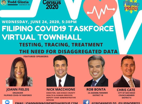 Filipino Covid-19 Task Force Town Hall