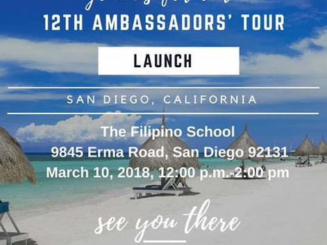 San Diego to launch 12th Ambassadors' Tour