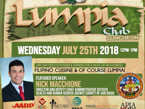 July Lumpia Club Luncheon featuring Nick Machionne