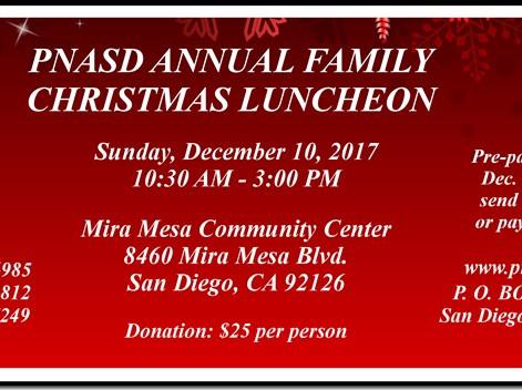 PNASD (Philippine Nurses Association of San Diego County Inc.) Family Annual Christmas Luncheon