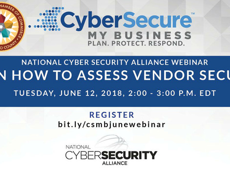 Secure My Business Webinar - How to Assess Vendor Security