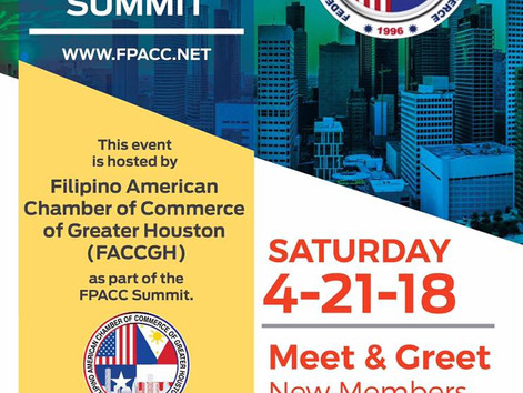 FPACC LEADERSHIP SUMMIT Federation of Philippine American Chambers of Commerce (FPACC)