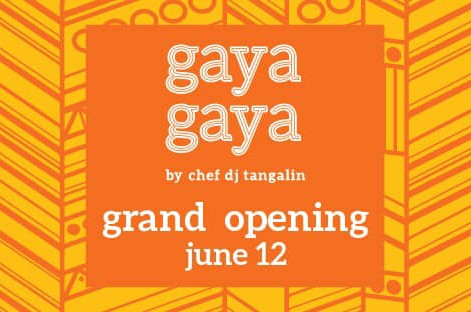 21st Century Filipino fare at Gaya Gaya with Danilo B. Tangalin Jr.