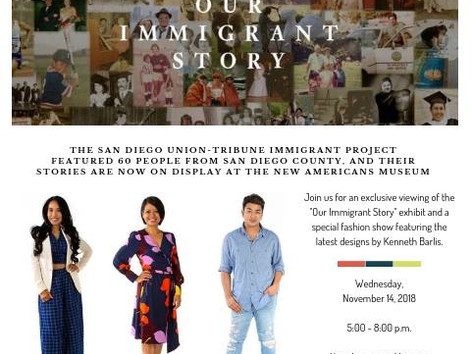 Our Immigrant Story Event, Fashion Show & Education Exhibit