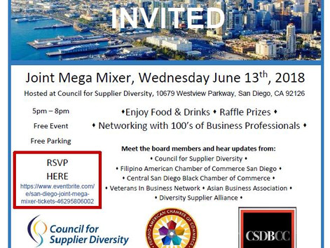 Joint Mega Mixer & Social Networking -Honoring of Racial & Ethnic Inclusion at the Council f