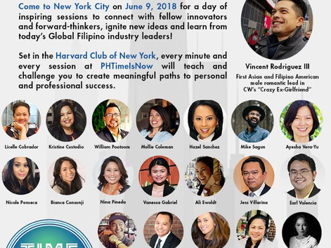FILIPINO INNOVATORS & CHANGEMAKERS TO CONVERGE IN NYC