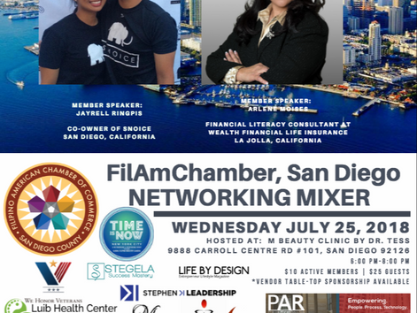 FilAmChamber San Diego July Networking Mixer