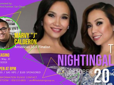 The Nightingales @ Sycuan Casino, Saturday, Nov. 3, 2018!