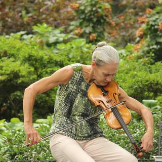 La Violinista y el Parque