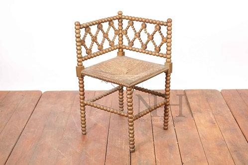 Bobbin turned corner chair arts & crafts