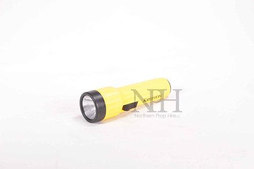 Yellow plastic torch