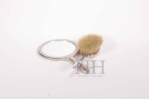 Brush and hand mirror