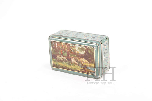 Blue  picture tin