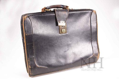Worn vintage briefcase