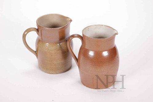 Brown jugs