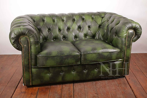 Green 2 seater chesterfield