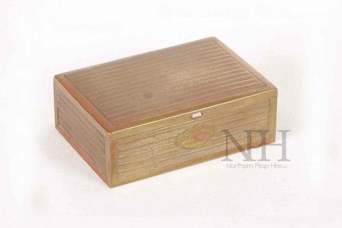 Brass cigarette box