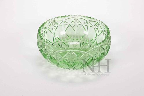 Cut green glass