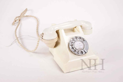 Ivory cream bakelite telephone