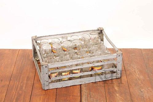 Galvanised milk crate