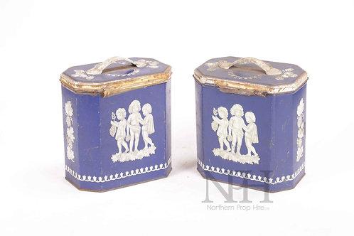 Blue tins